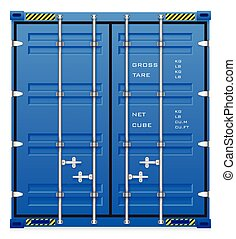Cargo container - Illustration of cargo container isolated ...