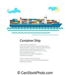 Cargo Container Ship Poster - Poster Cargo Container Ship ,...