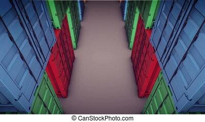 """Cargo Container"" - ""Cargo Container. Top view."""