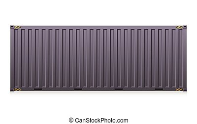 Cargo container - Vector of cargo container isolated on...