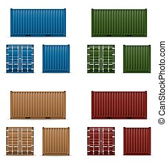 cargo container vector illustration