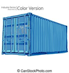 Vector illustration of Cargo container, Color Series.