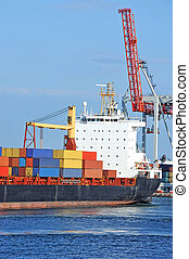 Cargo crane and container ship