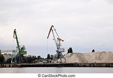 cargo crane in the port of
