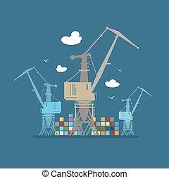 Cargo Cranes at Sea