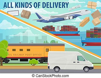 Cargo delivery, shipping service freight transport