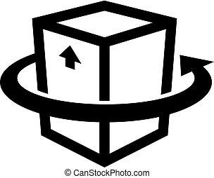 Cargo delivery, transportation icon