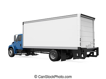 Cargo Delivery Truck Isolated