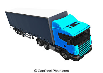 Cargo Delivery Vehicle on white background