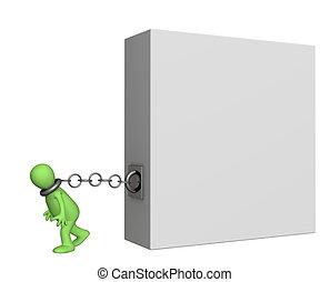 Cargo  - Conceptual image - a cargo of the responsibility