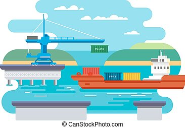 Cargo Freight Shipping by Water. - Cargo freight shipping by...