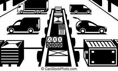 Cargo handling in warehouse