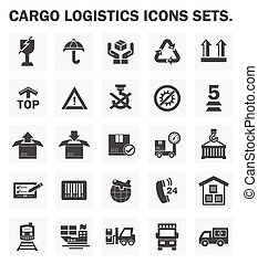 cargo logistics icon - Logistics icons sets.