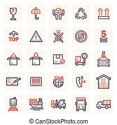 cargo logistics icons