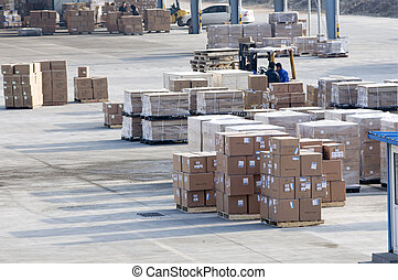 Cargo made in china at the airport