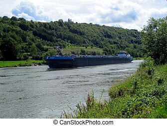 Cargo on the Moselle River