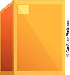 Cargo parcel box icon, cartoon style
