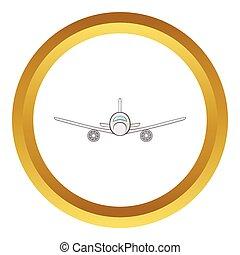Cargo plane vector icon