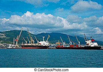 Cargo port at Novorossiysk. Russia