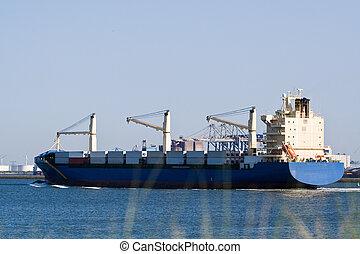 cargo, port, entrer