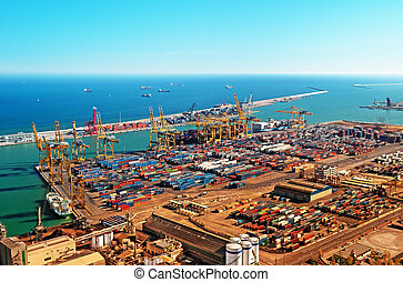 Cargo port in Barcelona - Spain