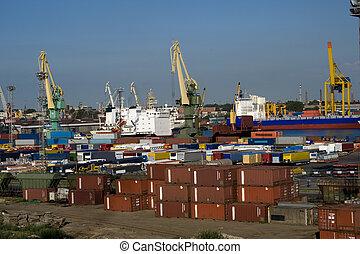 Cargo port in the Sankt Petersburg, Russia