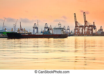 Cargo port Piraeus, Athens.