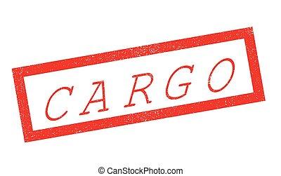 Cargo rubber stamp. Grunge design with dust scratches....