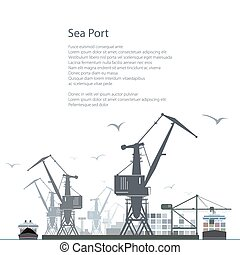 Cargo Sea Port Poster Brochure Design