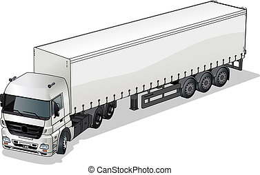 cargo semi-truck Available EPS-10 separated by groups and...