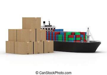 Cargo ship and luggage%u2019s