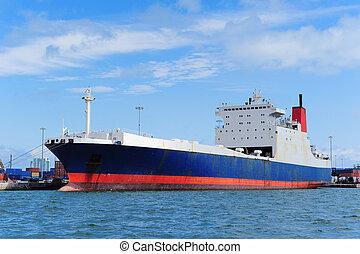 Cargo ship at Miami harbor