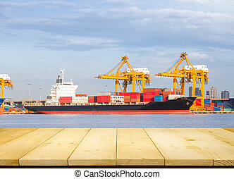 Cargo ship at port