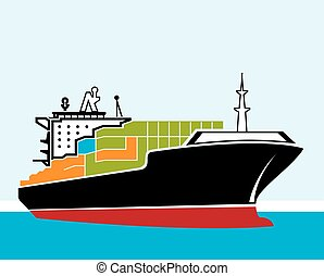 cargo ship vector clipart eps images 24 398 cargo ship clip art rh canstockphoto com shipping clipart free shopping clip art sillouettes
