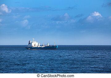 cargo ship in the ocean