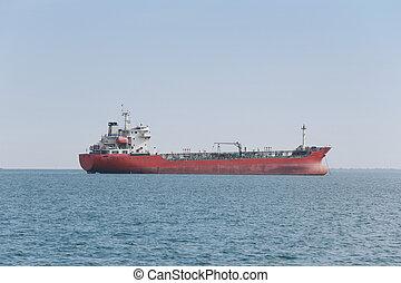 cargo ship in the sea.