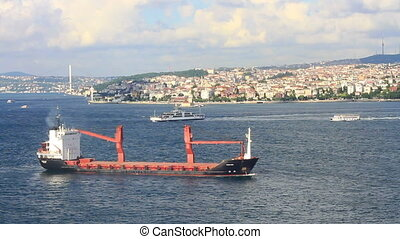 Cargo ship on route to Marmara Sea