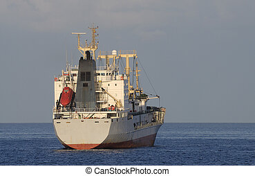 Cargo ship on the sea