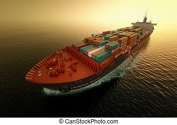 Cargo ship transportation.