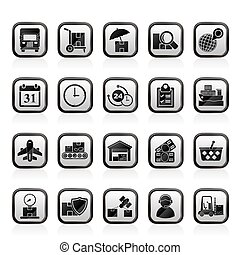 Cargo, shipping and Logistics icons