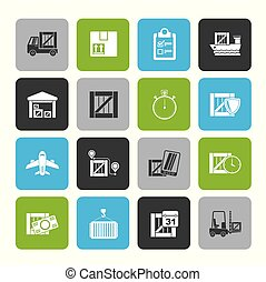Cargo, shipping, Logistics and delivery icons