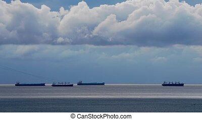 Cargo Ships in the Black Sea