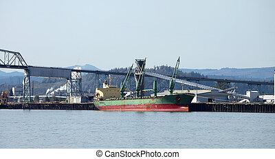 Cargo ships maritime transportation - A cargo ship being...