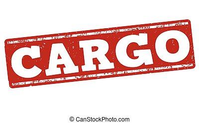 Cargo stamp - Cargo grunge rubber stamp on white background,...