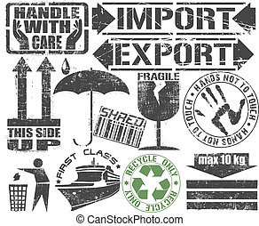 Cargo Stamp. - Vector image of Cargo Stamp.