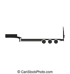 Cargo trailers . Silhouette of a truck trailer