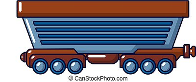 Cargo train icon, cartoon style