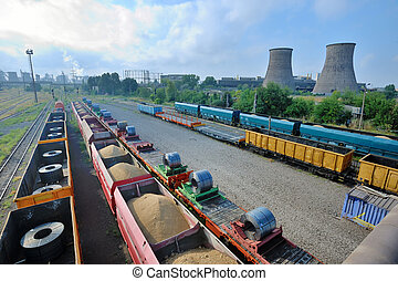 cargo train platform with role steel - Cargo train platform...