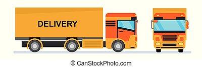 Cargo transportation. Illustration on a white background