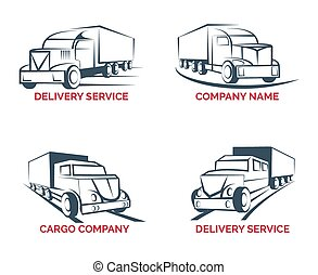 vector cartoon gifts express delivery logotype truck logo vector trendy cartoon gifts express. Black Bedroom Furniture Sets. Home Design Ideas